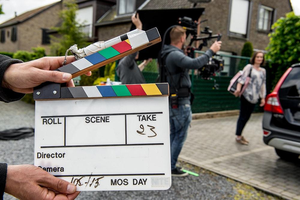 Opname van een commercial en bedrijfsvideo